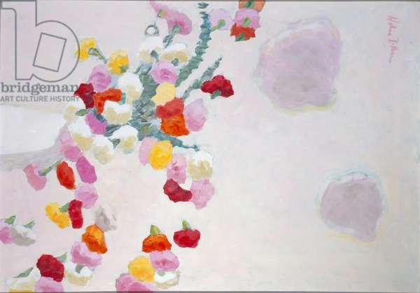 Carnations II, 1968 (oil on panel)