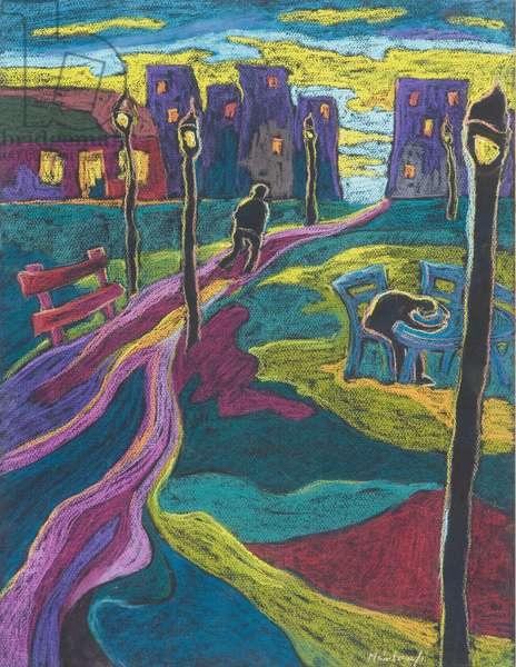 Suburbia, 2006 (pastel on paper)