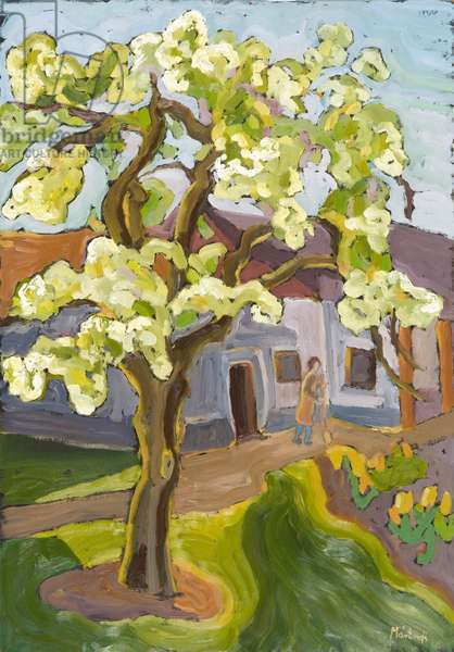 Blooming Pear Tree, 2008 (oil on board)