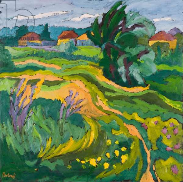 Village End, 2006 (oil on board)
