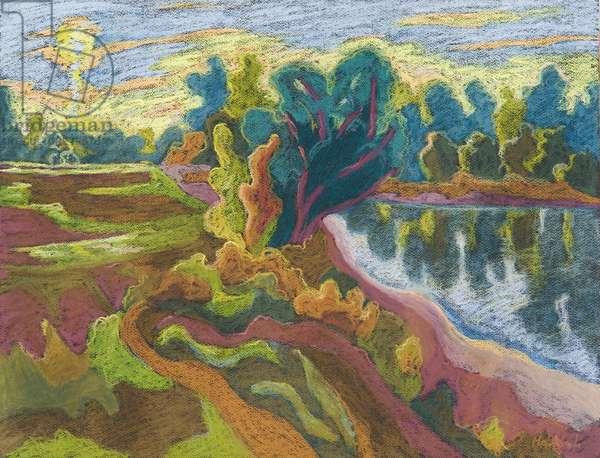 Idyll, 2008 (pastel on paper)