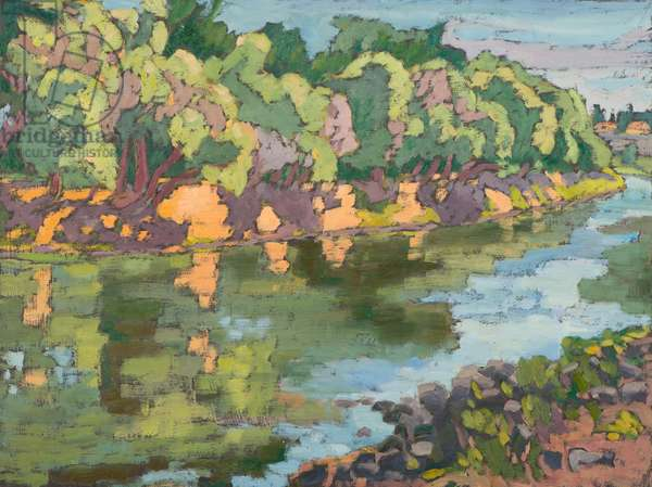 On the Sunny Side of River Koros, (2012) oil on board