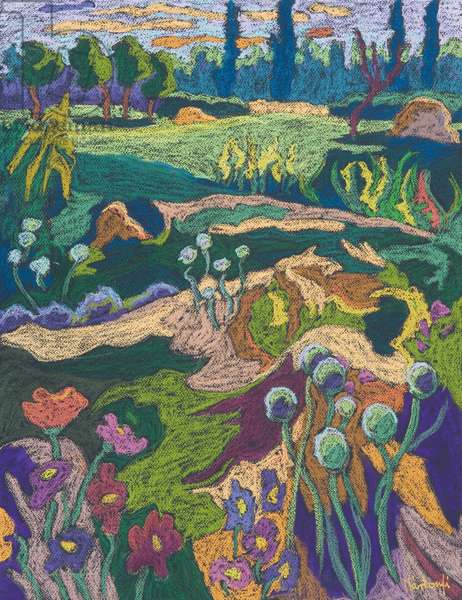 July Terrain, 2008 (pastel on paper)