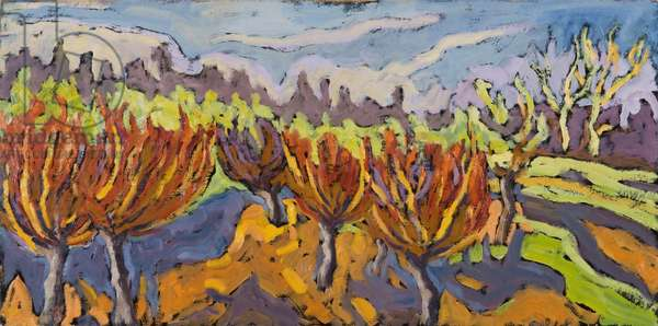 Dancing Willows, 2007 (oil on board)