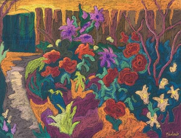 Mum's Garden, 2009 (pastel on paper)