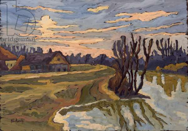Road into Dusk, 2004 (oil on board)