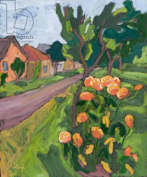 Neighbour's Roses, 2008 (oil on board)