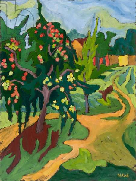 Appletree, 2006 (oil on board)