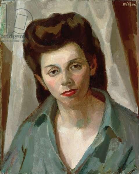 Mitzi (First Portrait) 1944 (oil on canvas)