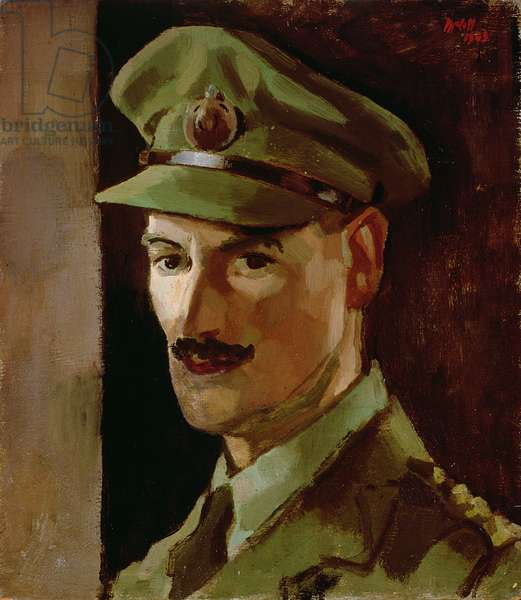 Portrait of Captain Charles McCall, 1945 (mixed media on board)