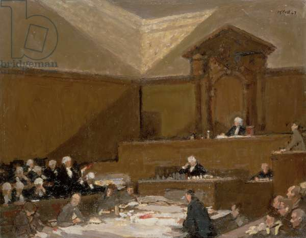 No.2 Court Old Bailey, 1967 (oil on board)