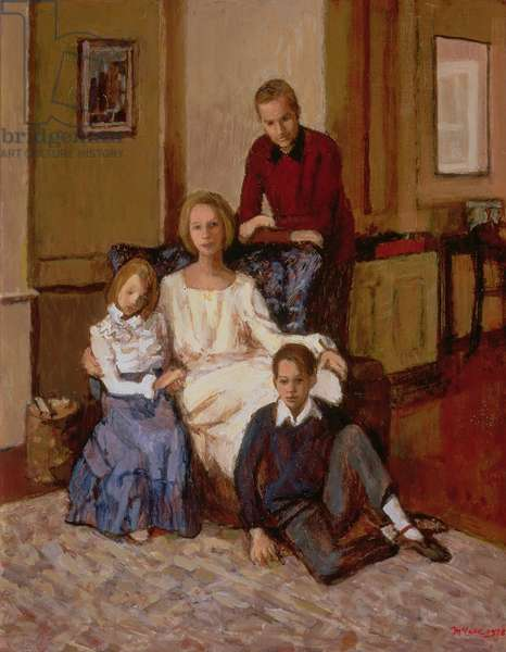 The Hathaway Family, 1978 (oil on canvas)