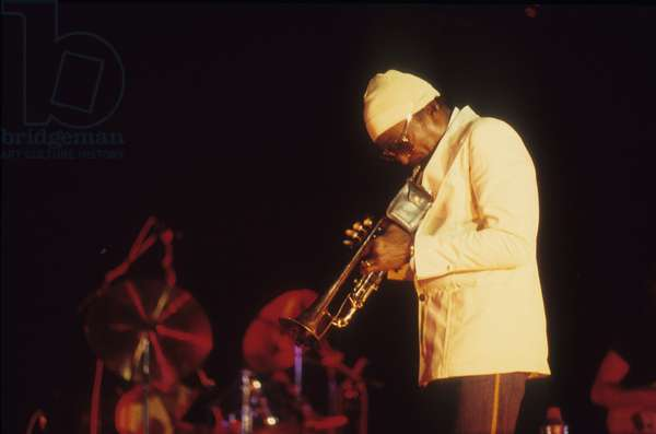 American jazz trumpeter and composer Miles Davis (about 1987)/Miles Davis, trombettista jazz e compositore (1987 circa) -