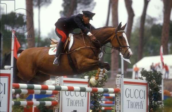 Rome,1987. Giuseppe Corno on Impedoumi