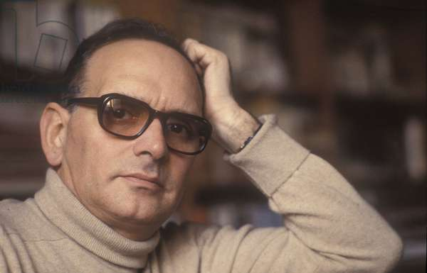Rome, about 1985. Italian music composer Ennio Morricone/Roma, 1985 circa. Composer Ennio Morricone -