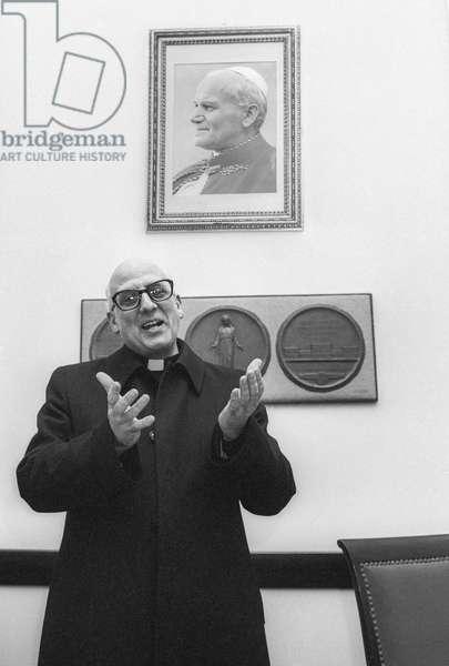 Jesuit theologian and political scientist Bartolomeo Sorge (about 1980)/Il gesuita, teologo e politologo Bartolomeo Sorge (1980 circa) -