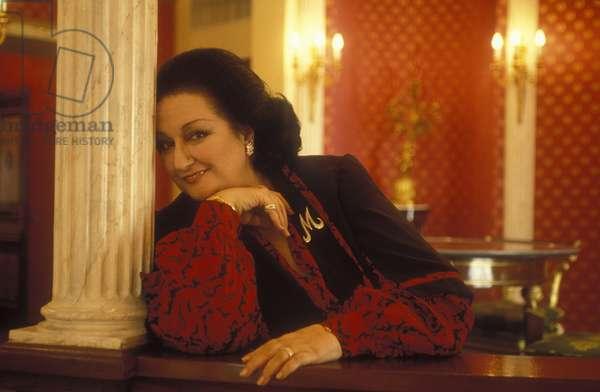 Portrait of the Spanish singer Montserrat Caballe in Rome in 1992.