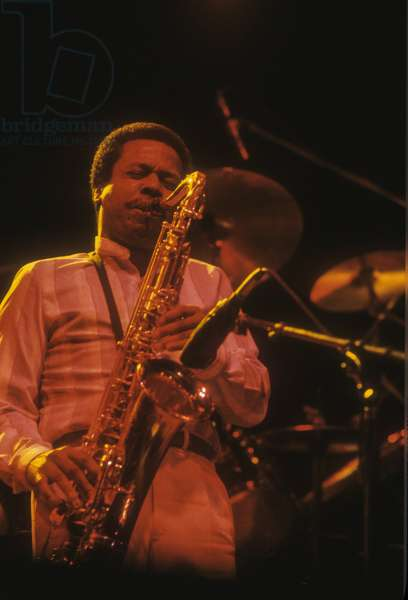Rome, about 1985. American jazz saxophonist Wayne Shorter performing/Roma, 1985 circa. The sassofonista jazz Wayne Shorter in concerto -