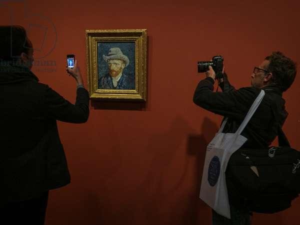 A Vincent van Gogh's self portrait shown in the exhibition