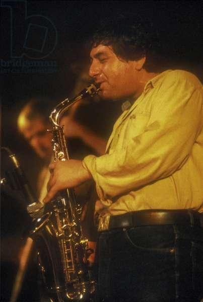 Italian jazz saxophonist Massimo Urbani, about 1985 (photo)