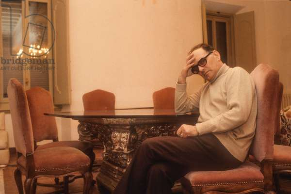 Ennio Morricone in His House (about 1985)