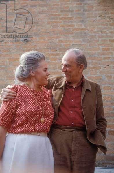 Ingmar Bergman and his wife Ingrid von Rosen