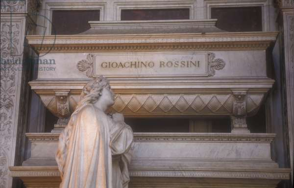 Tomb of Gioacchino Rossini in the Santa Croce Church in Florence/La tomba di Gioacchino Rossini nella chiesa di Santa Croce a Firenze -