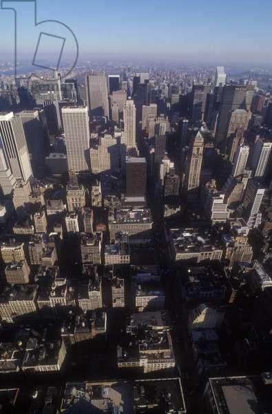 New York, 1989. Panoramic view of Manhattan