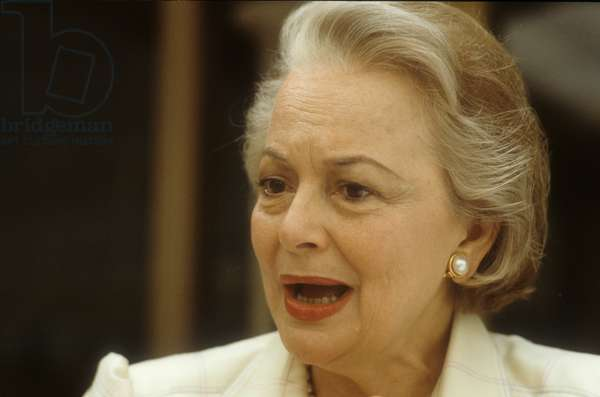 Actress Olivia de Havilland, about 1985 (photo)