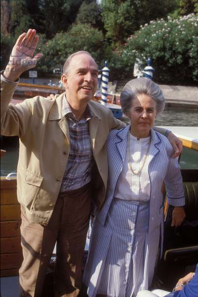 Venice Lido, Venice Film Festival 1983. Swedish director Ingmar Bergman and his wife Ingrid von Rosen. Bergman is here to present out of competition his movie