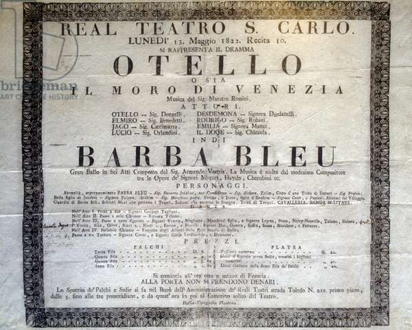 Playbill of the opera