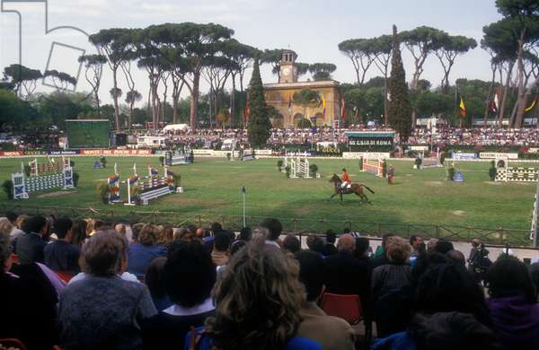 Rome, Piazza di SIena Horse Show