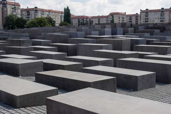 Berlin, 2005. Holocaust Memorial to the murdered Jewish of Europe, designed by architect Peter Eisenman