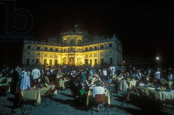 Stupinigi Palace, Nichelino (Torino), June 22, 1985. Charity event in support of cancer research (photo)