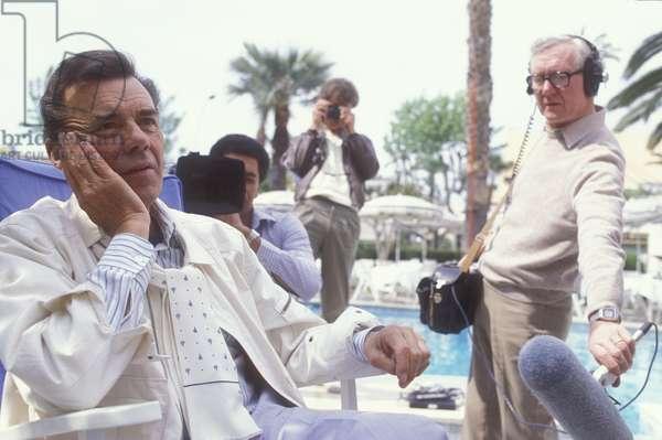 Cannes Film Festival 1984. British actor Dirk Bogarde, president of the jury/Festival del Cinema di Cannes, 1984. L'attore Dirk Bogarde, presidente della giuria -