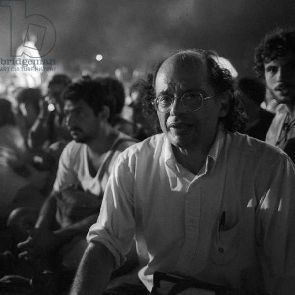 Ostia (Rome), Castelporziano, 1979. Poet Allen Ginsberg at First Festival of the Poets (photo)