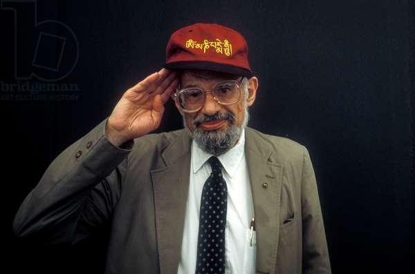 Venice, 1994. American poet Allen Ginsberg (photo)