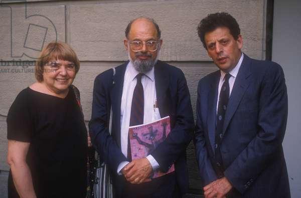 Allen Ginsberg, Fernanda Pivano, Philip Glass
