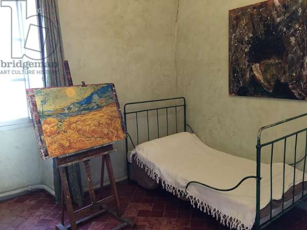 Saint-Remy de Provence (France). Room in the Sisters of St. Joseph Monastery where, from May 1889 to May 1890, painter Vincent van Gogh was hospitalized