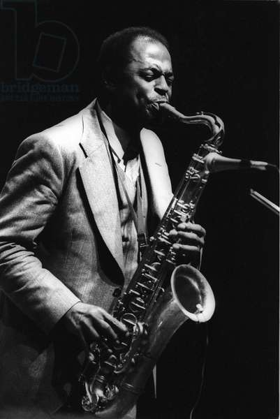 Rome, 1980. Jazz saxophonist Archie Shepp performing/Roma, 1980. The sassofonista jazz Archie Shepp in concerto -