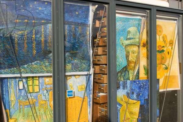 Amsterdam. Van Gogh poster store near the Rijksmuseum