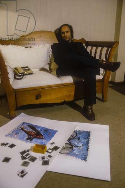 Rome, 1982 Italian artist Mario Schifano/Roma, 1982 Artist Mario Schifano-
