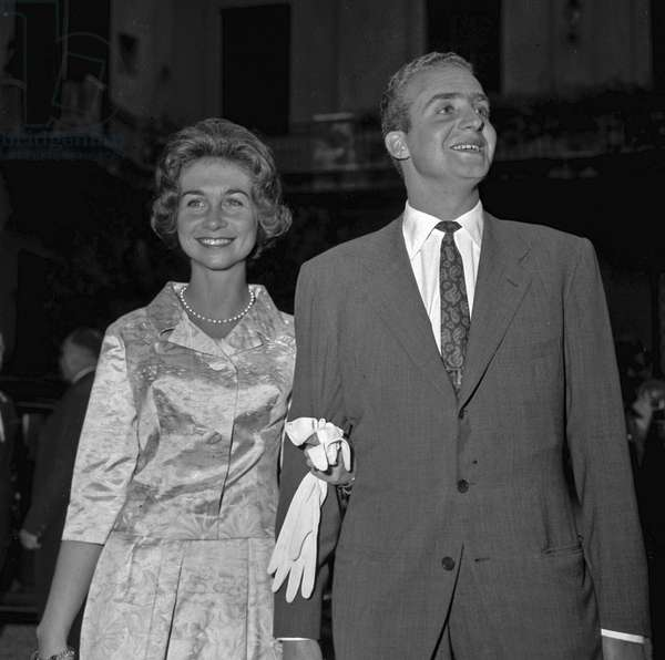 Rome, about 1960 Juan Carlos de Bourbon, future king of Spain, and his wife Sophia of Greek/Roma 1960 circa Juan Carlos di Borbone, future of Spain, with the moglie Sofia di Greece - Marcello Mencarini Historical Archives