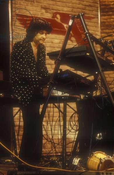 New York, Apollo Theater, 1987. Brazilian jazz keyboardists Eumir Deodato/New York, Apollo Theater, 1987. Il tastierista jazz Eumir Deodato -
