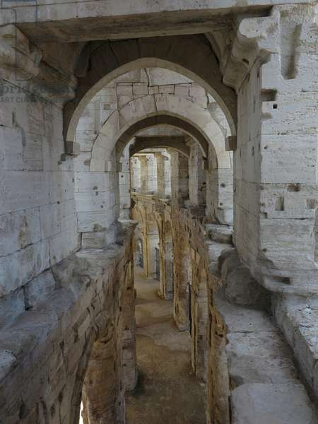 Arles, France, 2013. Interior view of the Arena