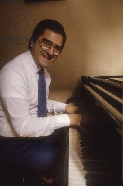Italian jazz pianist Enrico Pieranunzi (about 1988)/Il pianista jazz Enrico pieranunzi (1988 circa) -
