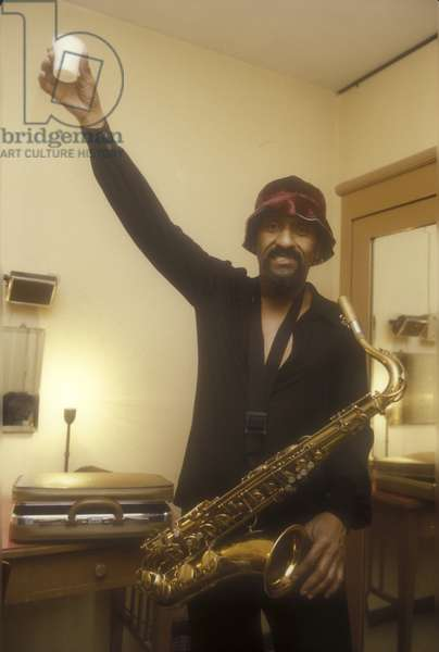 Rome, about 1985. American jazz tenor saxophonist Sonny Rollins/Roma, 1985. He sassofonista jazz Sonny Rollins -