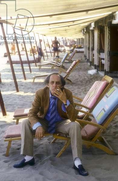Venice Lido, Venice Film Festival 1986. Italian director Francesco Maselli/Lido di Venezia, Mostra del Cinema di Venezia 1986. He registered Francesco Maselli -
