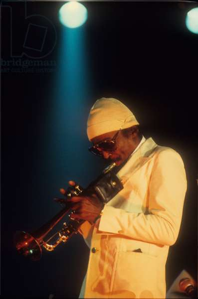 American jazz trumpeter and composer Miles Davis (about 1987) (photo)