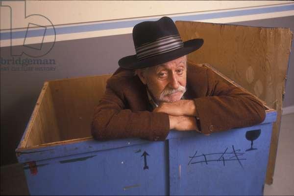 Ettore Sottsass in His Studio